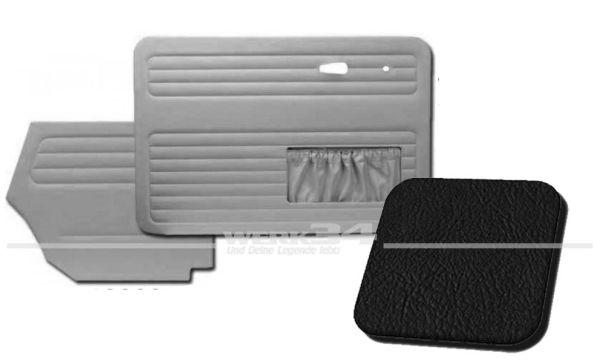 Verkleidungssatz 4-tlg. in Farbe schwarz, passend für alle Cabrio ab Bj.8/72 Käfer,Innenausstattung