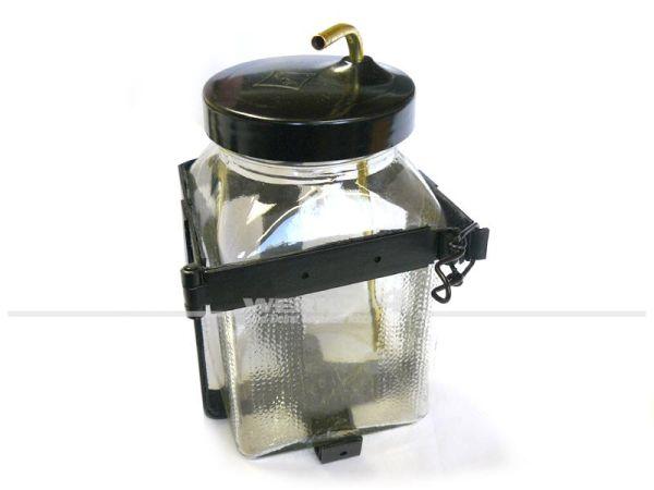 Glasbehälter für Scheibenwaschanlage inkl. Halter, Deckel & Anschlußrohr, perfekte Nachbildung