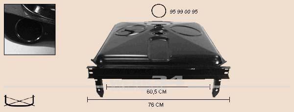 Tank / Kraftstoffbehälter, Benzin/Diesel 70L