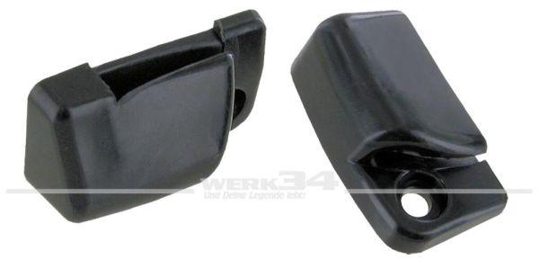 Paar Halter für Sonnenblende links und rechts in schwarz ab 08/67 Karmann,Innenausstattung