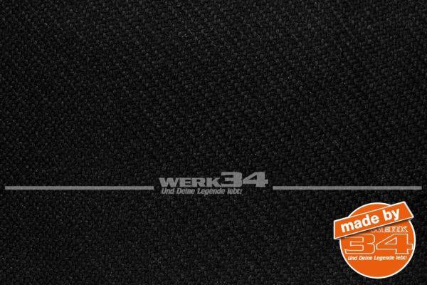 Bezugsstoff für Sitzwange, schwarz, passend für Golf III + Golf IV