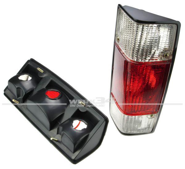 Rückleuchten, Klarglas rot/weiß, passend für Caddy I