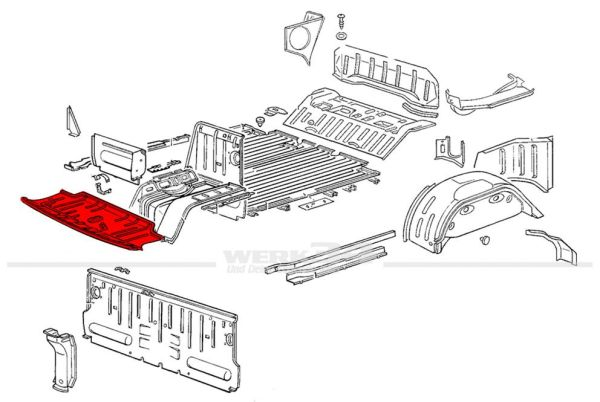Bodenblech, passend für Modelle von 08/72-07/79