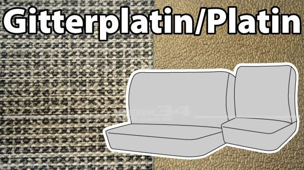 """Sitzbezüge für Fahrersitz und Beifahrerdoppelsitz """"Gitterplatin/Platin"""""""