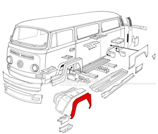 Einstieg Außenkante links, passend für Modelle von 08/67-07/71