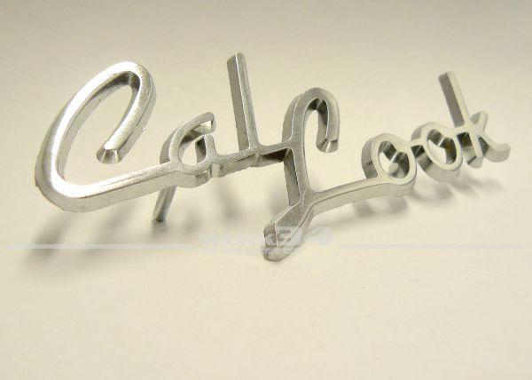"""Chrom Schriftzug """"Cal-Look"""" ca.115x50mm"""