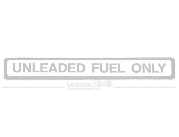 Kennschild Unleaded Fuel, weiß
