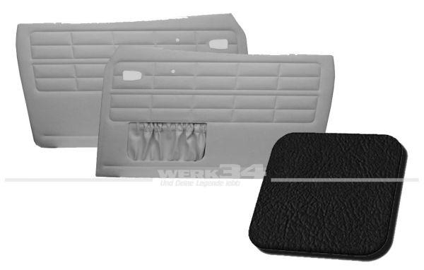 Türverkleidung schwarz, mit Kartentasche, passend für Karmann Ghia Typ 14, Bj. 1964-74