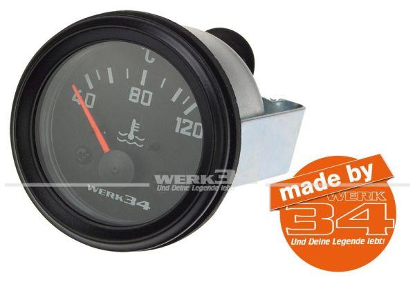 Zusatzinstrument, Wassertemperatur (40~120°C), schwarz, Ø52mm