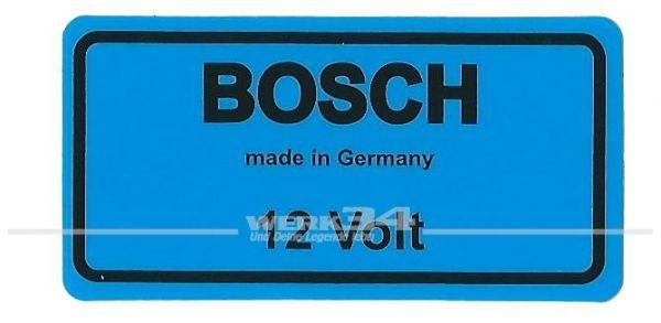 "Aufkleber ""BOSCH 12 Volt, blau"""