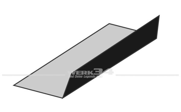 Teppichsatz Kofferraum schwarz Schlingenware, passend von 08/54-07/60 Käfer,Innenausstattung