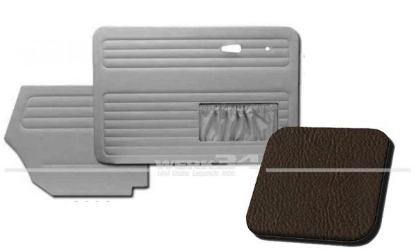 Verkleidungssatz 4-tlg. in Farbe braun, passend für alle Cabrio ab Bj. 8/66-7/72