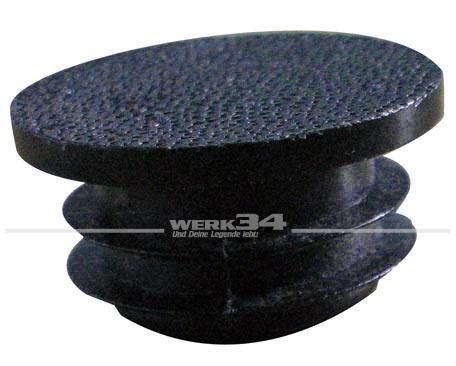 Abdeckkappe für Stoßstangenecke, schwarz, passend für Bus T3