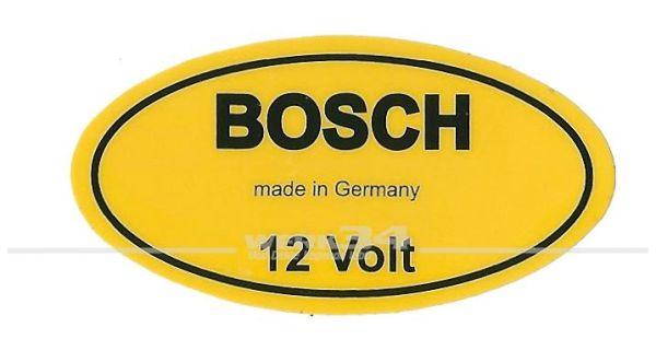 """Aufkleber """"BOSCH 12 Volt"""""""