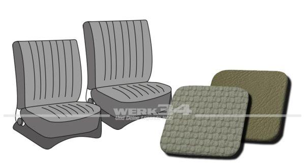 Sitzbezüge vorne, passend für Typ 3, Bj. 1965-72, Korbmuster grau