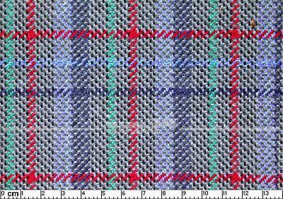Bezugstoff grau/bunt, verbaut z.B. bei Golf II Manhatten, Grundpreis: 49,28 EUR pro m2