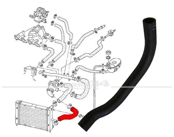 Kühlerschlauch, Rücklauf, passend für Golf II